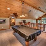 Pool table available at Cabin Old Greenwood residences