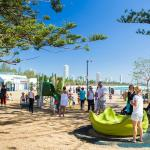 Burleigh Beach beachfront play area opposite tourist park