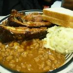 2-meat brisket and rib plate