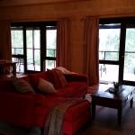 Looking back through the chalet from the bedroom - so much space!