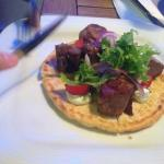 Pork Souvlaki con Pitta Bread croccante
