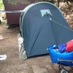 Piazzola con nostra tenda per 4