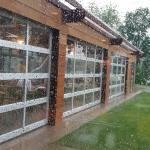 outdoor patio garage doors come for rain