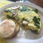 Popeye omelette, special of the day