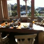 Ausblick beim Frühstück