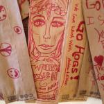 Find the art wall- this artist sees Which Wich in your future- I believe the artist is right!