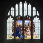 Stained glass window at St Dunstans