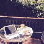 breakfast on the private patio outside the garden room