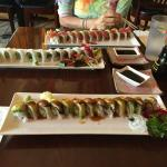 Our dinner sushi