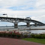 Yorktown Riverwalk: view of bridge