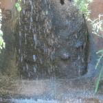 fuente en el jardin