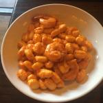 Vodka Gnocchi with shrimps