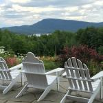 A cozy Adirondach chair has never been more appropriate