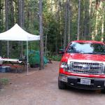 Campsite B4 in Glacier Campground