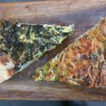 spinach and bacon quiches