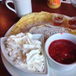 Crepe with strawberries & whipped cream