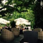Vista do Restaurante - logo ao lado fica o jardim de rosas