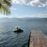 Explore Lake Atitlan with the hotel's pedal boat