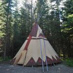 Our tipi for the night