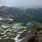 Ice Lake Basin, Golden Horn Summit, looking N towards Ice Lake, 07-18-2015 10:40AM.