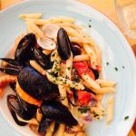 Delicious gluten free pasta with fresh seafood