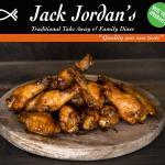 Jack Jordans Fresh Sticky Wings ( with Franks Hot Sauce, Cajun Sauce or BBQ Sauce)