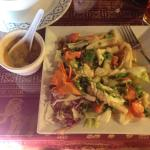 Squid Salad and Tom Ka Gai a perfect fresh summer meal for a hot day.