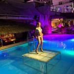 Beach Club Swimming pool bar evening