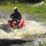 Going through water
