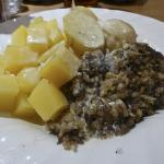 haggis, neeps and tatties in a whisky cream sauce