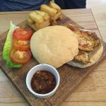 These pictures are what I describe in my review ! My Cajun chicken Burger and full English . Top