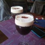 Beautiful Irish coffees.