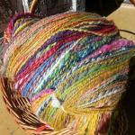 A big skein of fall color yarn