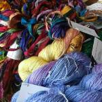 Hand dyed and fair trade silk yarns