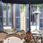 La terrasse du restaurant PoivretSel à Auxerre