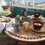 Delicious breakfast on the terrace.