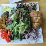 union salad with falafel