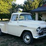 The new farm truck, a 57 chevy pickup