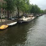 Prinsenboot moored outside Prinsenhuis