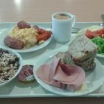 The breakfast.