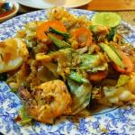 main meal -fried rice noodle with seafood