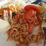 plat crevettes salade de crevettes (14.90 je pense)