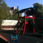 The children's play area.