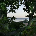 Blick auf den abendlichen Gardasee Richtung Salo