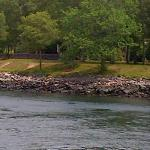 Recreation area surrounding canal