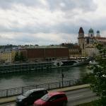 Blick vom Haus Richtung Altstadt.