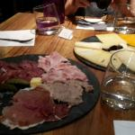 Cold meat cuts and cheese plate go well with the wines