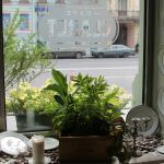 Кафе Claret, вид из окна на ул. Марата