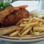 Gigantic fish sandwich!