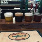 Flight of Beer-  $14 allows you to pic 4 or 6 if the bar picks